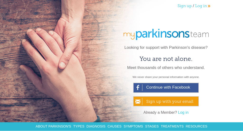 What is myparkinsonsteam.com?